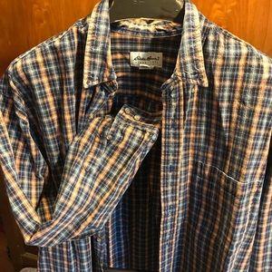 Thick men's long sleeve button down shirt